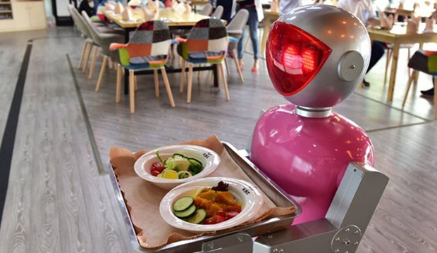 Robots Serving In Restaurant