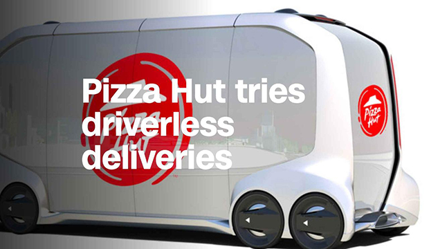 Pizza Hut Driverless Vehicle Delivery Van