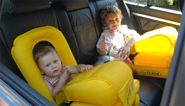 Luftikid World's First Light Weight Inflantable Child Car Safty Seat