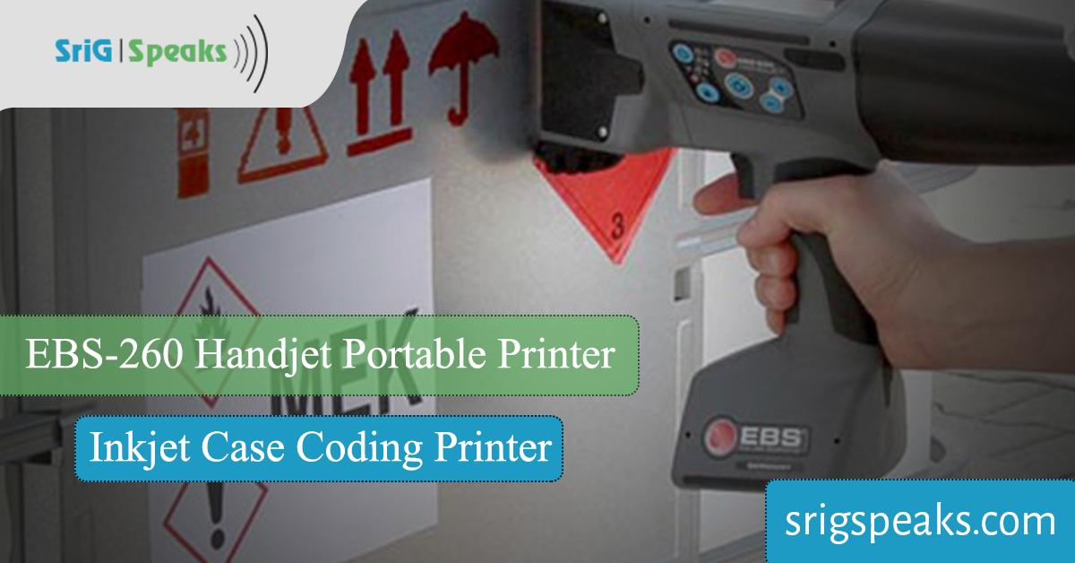 EBS-260 Handjet Portable Inkjet Printer Case Coding Printer